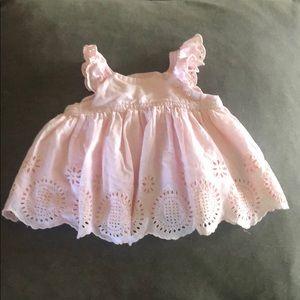 Baby Gap light pink dress/shirt, Sz 3-6 months